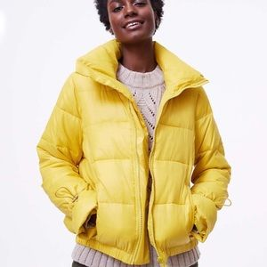 🎀NEW🎀LOFT Lemon Yellow Puffer Coat